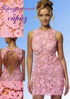 Платье в технике составного полотна