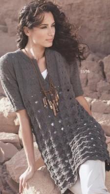 Платье серого цвета вязание спицами