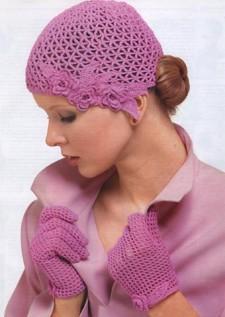 Комплект (шапочка и перчатки)