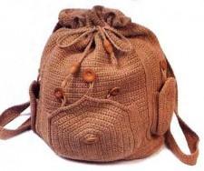 Красивый рюкзак крючком