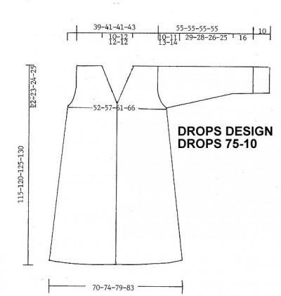 Пальто вязаное спицами выкройка