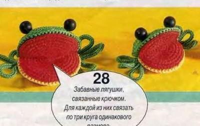 Вязаные лягушки