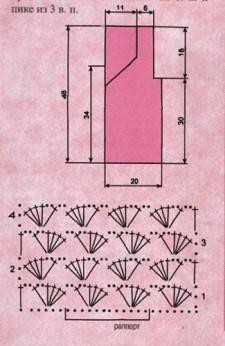 Розовая маечка вязаная крючком