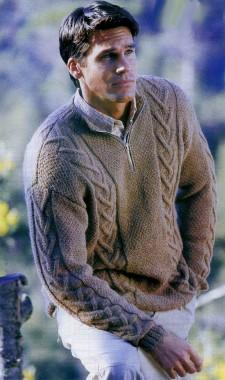 Пуловер с застежкой-молнией