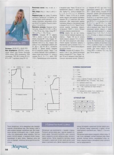 Голубая туника вязание спицами полное описание