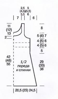 вязаное платье для девочки выкройка