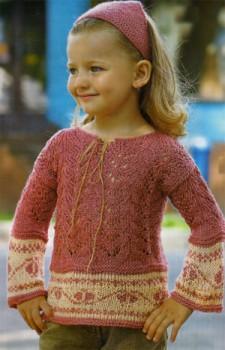 Ажурный пуловер и платочек