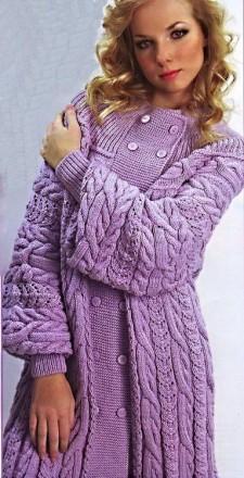 вяжем пальто спицами
