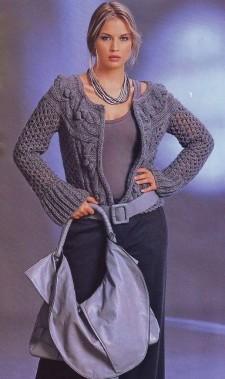 Жакет с круглой кокеткой