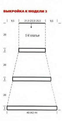 вязаное платьае выкройка вязания
