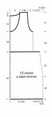 Сиреневый жилет выкройка вязания