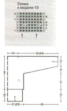 Белый вязаный жакет схема