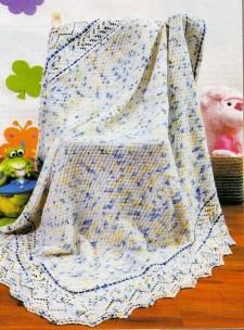Детское вязаное одеяло