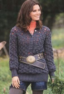 Пуловер с глубоким вырезом поло