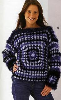 Пушистый пуловер