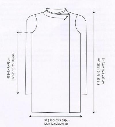 Пальто с рельефным узором выкройка