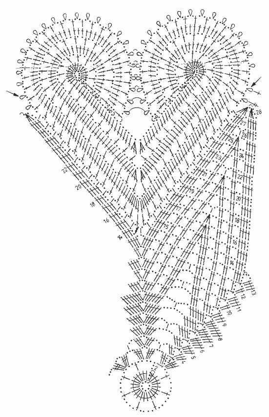 Вязание крючком салфетка схема