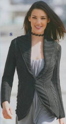 Жакет с широким воротником шалька