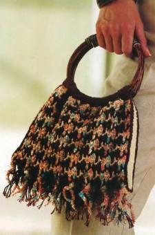 Сумка с плетеным узором