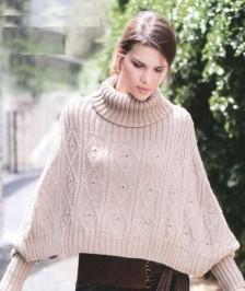 Пончо-свитер вязание спицами