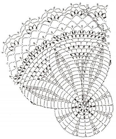 схема ажурной салфетки