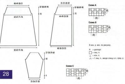 Вязаное пальто спицами схема и выкройка