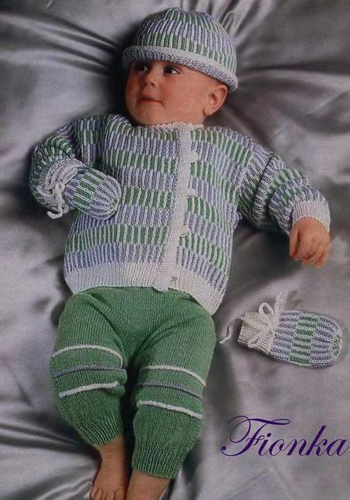 вязаный комплект для малыша