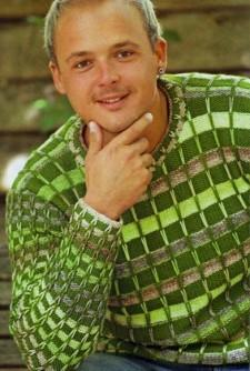 Пуловер с полосками из длинных петель мужской