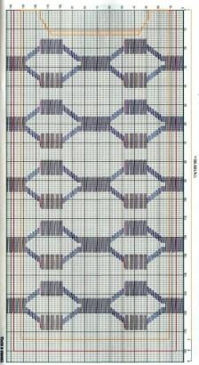 вязаное платье схема вязания