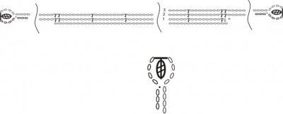 оригинальный шарф схема вязания