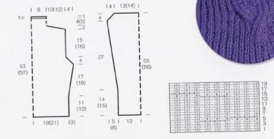 Вязаный женский свитер выкройка и схема