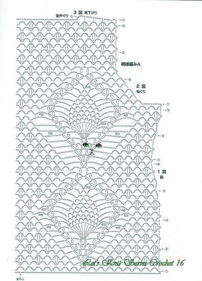 вязаный топ вид с спины схема вязания