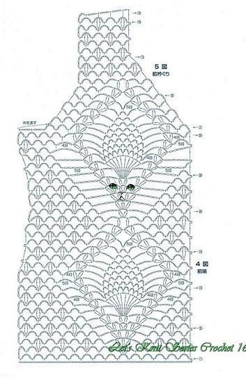 вязаный топ схема вязания
