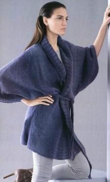Модель Жакет с рукавами кимоно.