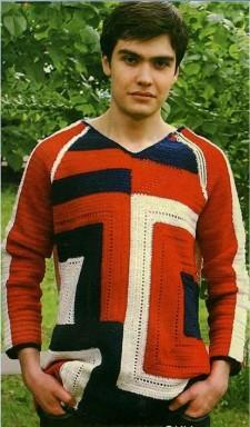 Джемпер с геометрическим рисунком для мужчин