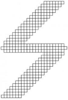 Джемпер с геометрической схемой