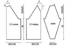 Джемпер с геометрическим рисунком выкройка