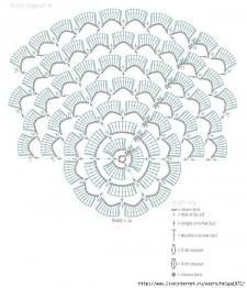 Белая шаль крючком схема вязания