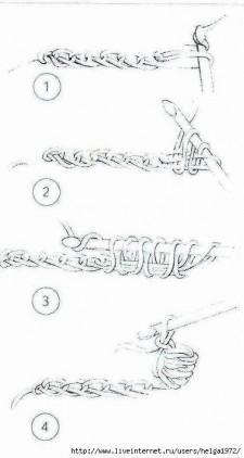 Белая шаль крючком как вязать
