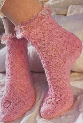 Хорошенькие розовенькие носочки