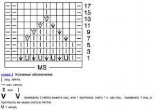 Жакет с планками-воланами схема вязания