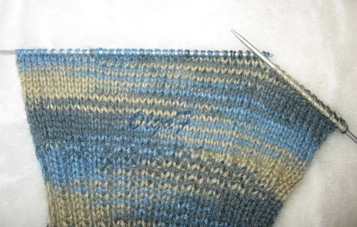 вязанию носков на 2-х спицах.