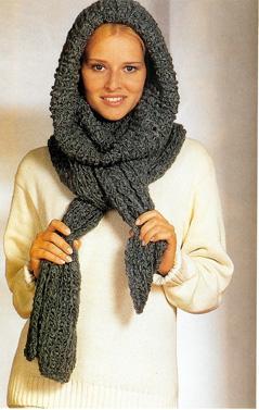 Чудо-шарф спицами