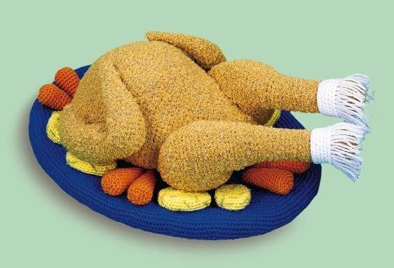 вязаная курица игрушка