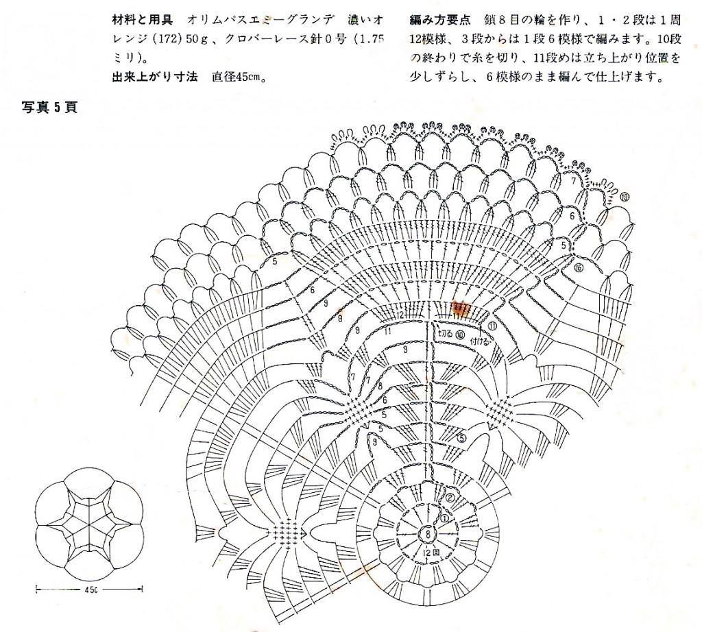 салфетка схема вязания