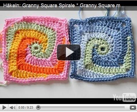 квадраты спиральки вязание крючком видео