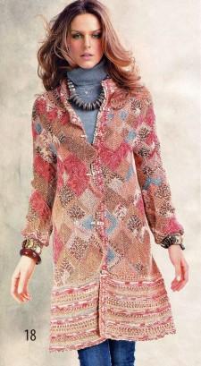 Пальто «Домино» фотография вязания бесплатно
