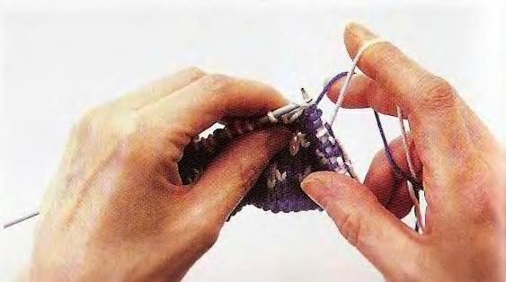 Жаккардовое вязание спицами