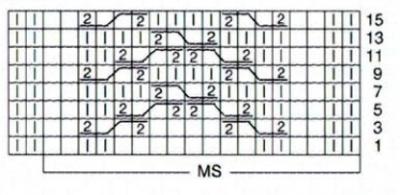 Туника вязаная спицами схема вязания