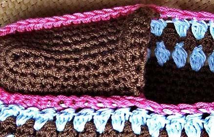 вязание носка тапочка